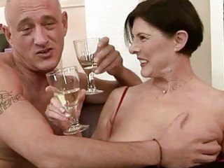 naughty granny receives her unshaved muff screwed