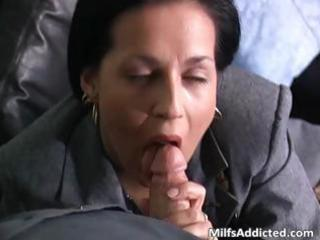 concupiscent brunette mother i secretary acquires