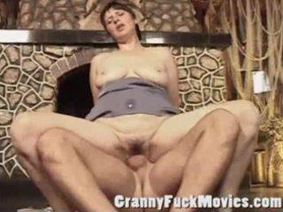 obscene mature slut gets a hard weenie in her old