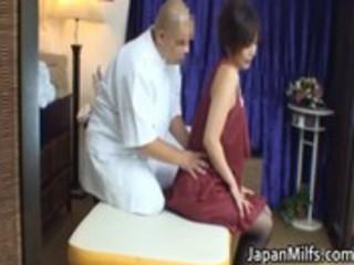 oriental milf has massage and fucking
