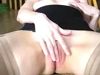masturbation and goo fountain on firm titty angel.