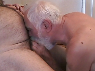 two older dudes getting off