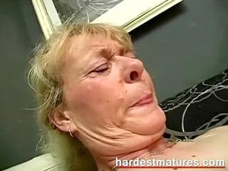 grandma engulfing dick while fingering
