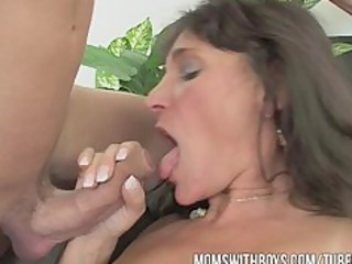 mom awards two boys' hard work with hot dp anal