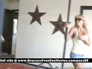 aged busty blonde honey goes to her friends house