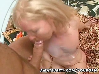 dilettante milf fucked with huge facial cumshot