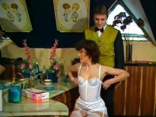 classic porn clip of a milf in white underware