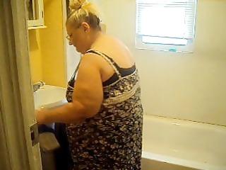 cleaning in black panties