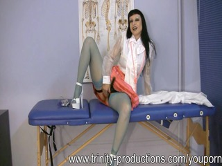 breasty milf nurse femdom dong tugjob