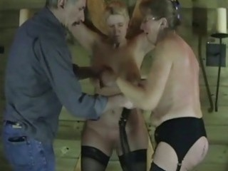 two mature dilettante slaves in raunchy torture