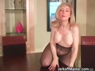 excited blond mum with large hooters part2