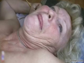 horny old granny with huge scoops can part10